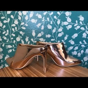 Cape Robbin Rose Gold Mules